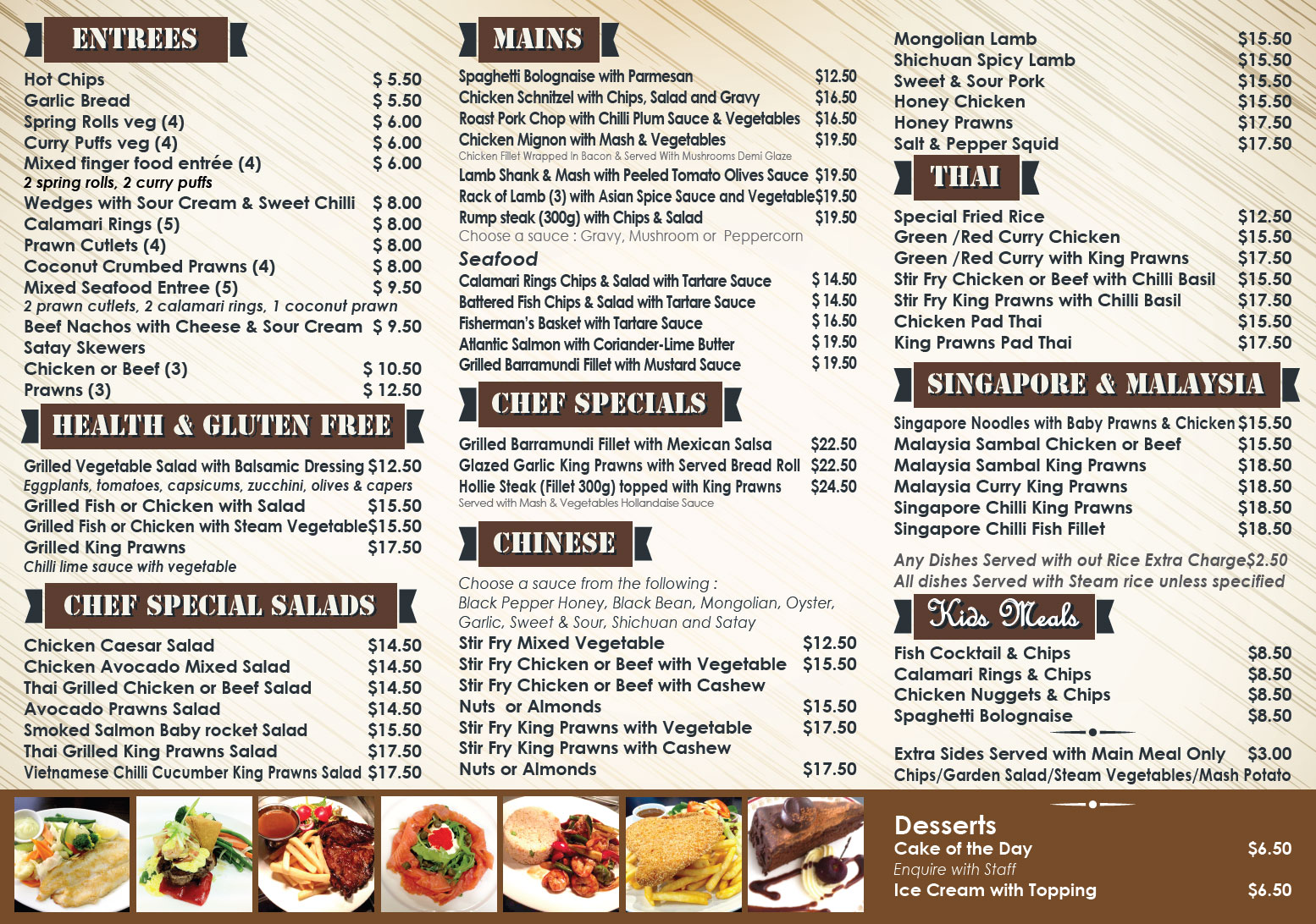 District Cafe Menu