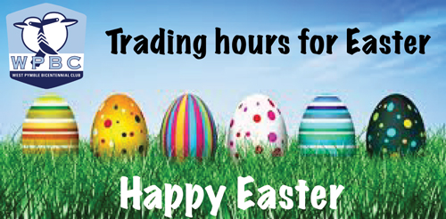 WPBC Easter Trading Hours